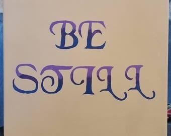 Handpainted canvas word art