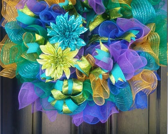Colorful large wreath