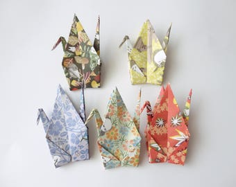 10 large 6'' My Neighbor Totoro Origami paper crane,Autumn,Make a wish,Washi Chiyogami,Cute Origami crane,wedding,party,Decoration,Card