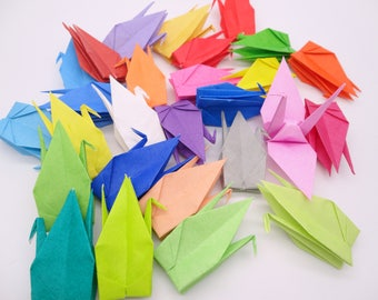 Ready to ship!100 3'' Colorfol Origami paper crane,Make a wish,Washi Chiyogami,Cute Origami crane,wedding,party,Decoration,Card