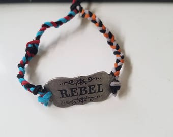 "Braided ""rebel' braclet"
