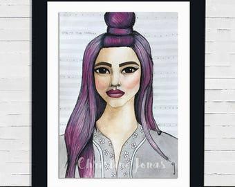 Dani -- Original Watercolor Portrait Painting