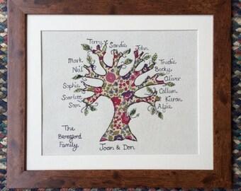 Large Family Tree. framed