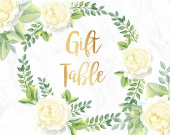 Floral Gift Table Sign