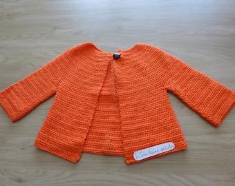 orange crochet child vest