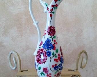 Mini jar hand painted porcelain