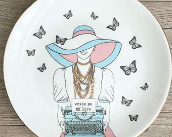 Write Me My Love Porcelain Plate