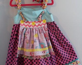 4T Knot Apron Dress