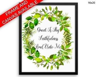 Faithfulness Wall Art Framed Faithfulness Canvas Print Faithfulness Framed Wall Art Faithfulness Poster Faithfulness Floral Wreath Art