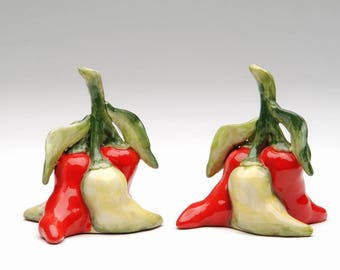 Mini Chili Salt and Pepper Shaker Set