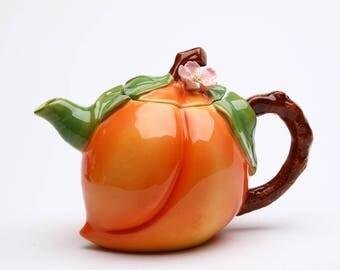 Peach Teapot (20834)