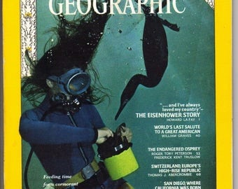 Vintage National Geographic VOL 136, NO. 1, July 1969 The Eisenhower Story-Special Issue