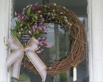 Lavender flowered wreath