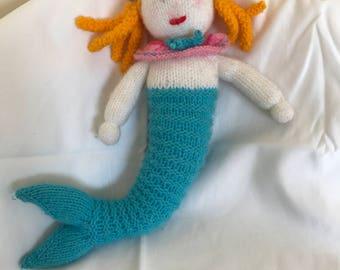 Knitted Mermaid Doll