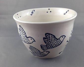 Birdies Porcelain Bowl