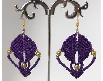 Laos earrings - micro macrame