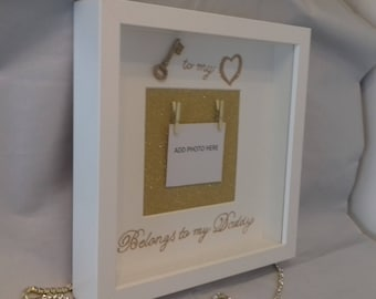 Fathers day daddy daughter box frame gift