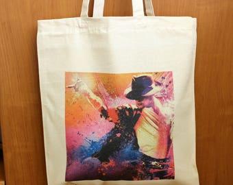 Michael Jackson Tote Bag, Michael Jackson Shopping Bag, Michael Jackson Fan Gift, 100% Cotton Tote Bag, Canvas Tote Bag, Market Tote Bag