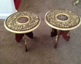 Two antique flower tables