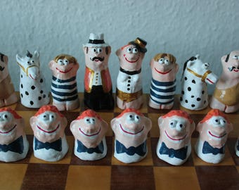 Circus Chess Pieces