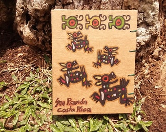 Hand-painted notepad - indigenous Costa Rica