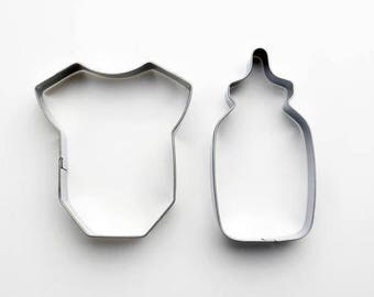 2pcs/Set Baby Cookie Cutters- Fondant Biscuit Mold - Pastry Baking Tool Set
