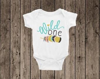 First Birthday Onesie   Wild One Onesie and Baby Tee   COLOR CUSTOMIZATION AVAILABLE   Toddler tee   Cute Onesie   Boho Onesie  