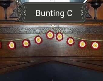 Crochet flower bunting festival boho
