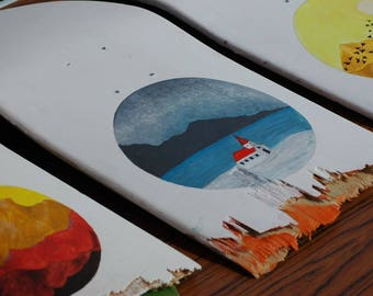 Wall hanging art skateboard - hand painted by Clo