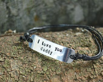 Fathers Day Gift, Fathers Day Gift from Daughter, Mens bracelet, Personalized gift,Gifts for Dad, Fathers Day Gift from Son, Father's Day