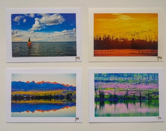 """Greeting Cards,  Photography Blank,  5""""x7"""", 4 Pieces, Landscape"""
