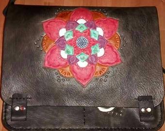 Black pattern bag mandala