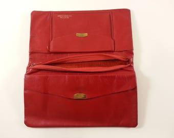 Vintage Buxton Wallet Clutch - Soft- Vintage Red