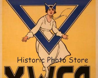 "YMCA War ""Poster ""Remember the girl behind the man behind the gun--Y.W.C.A. War Work Council"""