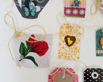 Butterflies, Hearts, Colorful Gift Tags