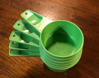 Lime Green Tupperware Measuring Cups