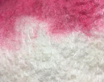 Wet felted Mohair  Scarf