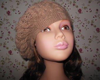 Woman in wool beret
