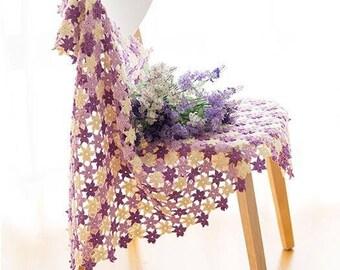 afghan crochet blanket jacinthe pourpre style wedding romantic bedspread