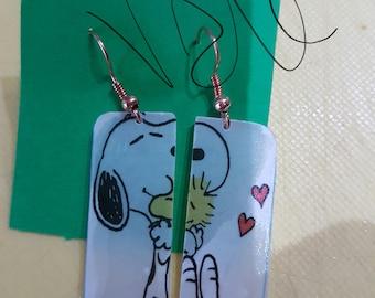 Plexiglas snoopy earrings