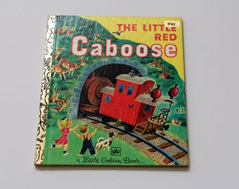 Vintage 1981 'The Little Red Caboose' Little Golden Book