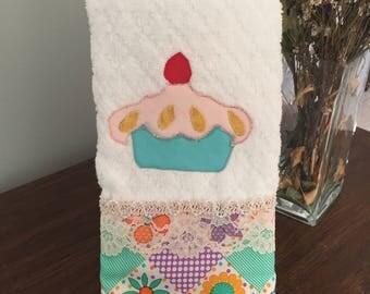 Kitchen towel handmade cupcake