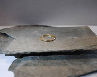 Thin 14k Solid Yellow Gold Band