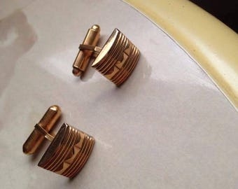 Vintage gold plated cufflinks