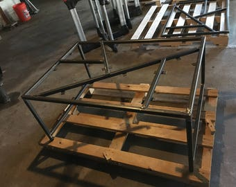 Coffee Table Metal Frame empty shell.  3 1/2 X 2 1/2 X 18