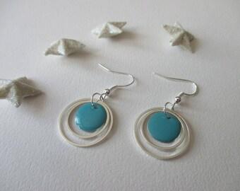 Earrings rings silver