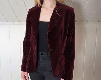 Vintage 90's Koret Red Velvet Blazer