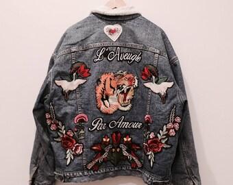 Vintage Levi's Custom Tiger shearling jacket