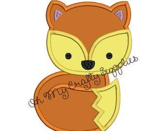 Fox Applique Design
