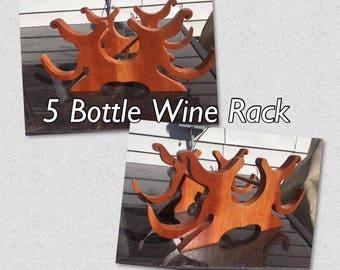 5 Bottle Wine Rack
